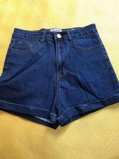 🚚 小高腰牛仔短褲