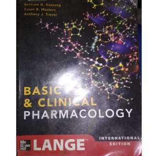 Katzung Textbook of Basic and Clinical Pharmacology (12th Edition) International Edition - Katzung, Masters, Trevor Original from C&E bookstore.
