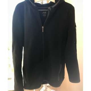Joe Fresh zipper sweater hoodie, black, size XL