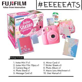 Instax Camera Fujifilm mini 9 SAKURA special package