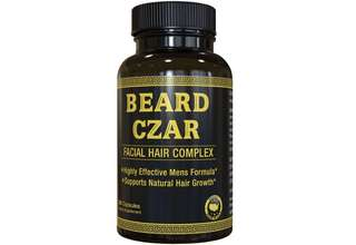 [IN-STOCK] The Beard Czar -Facial Hair Complex - Highly Effective Mens Formula- Supports Natural Hair Growth-Improve Beard Quality and Nourishment-30 Capsules
