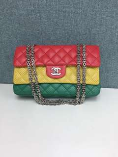 Chanel 3 tone color classic cc logo handbag