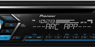 Pioneer, Model DEH-S4000BT Single Din Bluetooth In-Dash CD/Am/FM Car Stereo Receiver with Dual Phone Connection, Pandora Control.
