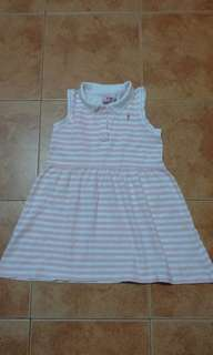 Juniors Pink Stripe Dress 5/6Y