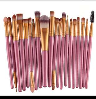 19 pcs Pink Gold Make up / makeup Brush brushes Set
