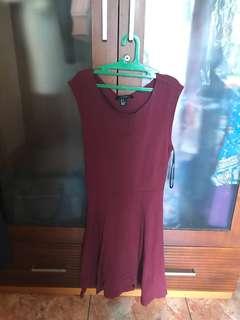 Forever 21 Maroon Dress