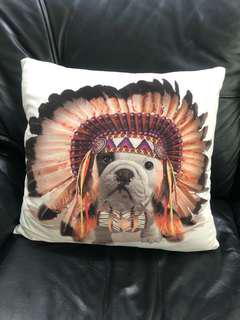 Red Indian Dog Cushion