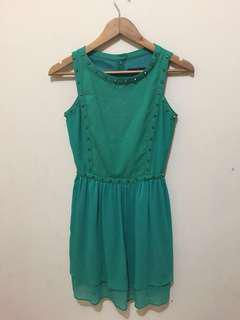 Nyla Basic Green Dress
