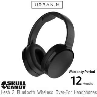 Skullcandy Hesh 3 Bluetooth Wireless Over-Ear Headphones with Microphone (Black)