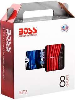 BOSS Audio KIT2 8 Gauge Car Amplifier Installation Wiring Kit.