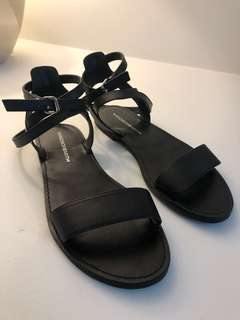 New Windsor Smith leather sandals flats black cute