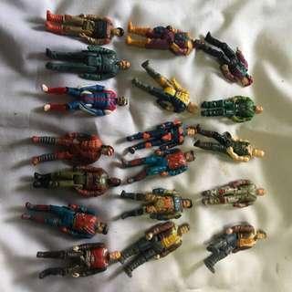 Vintage Kenner mask figures Lot