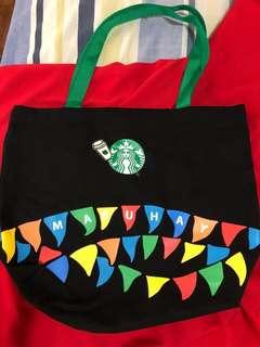 Starbucks Preppy Tote Bag