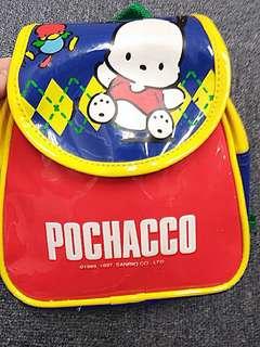 絕版而九成新~Pochacco PC 狗 Sanrio 1997年背包
