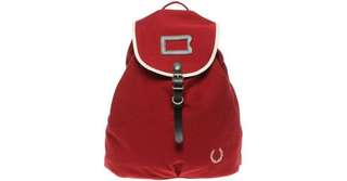 Fred Perry Canvas Backpack in Red