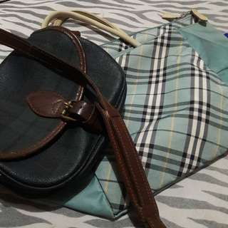 Authentic ralph and burberry bag