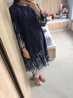 Elegant Navy Tunik - New