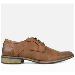 Betts Brown Zeal Textured Derby Dress Shoe