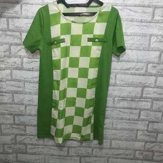 Green pattern dress