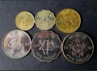 1997紀念硬幣(共6枚)