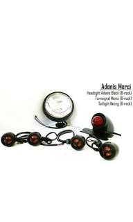 Motorbike/ Caferacer Headlight/ Signal light/ Turn light/ Lamp Adonis Merci Pack