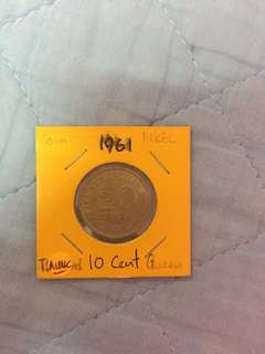 Queen Elizabeth the second  1956 1 cent