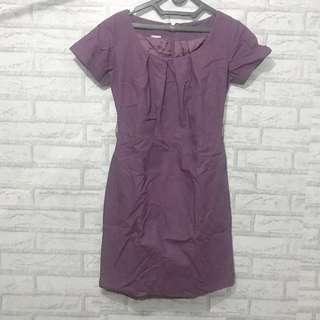 Purple dress (office look)