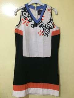 Plain and Prints dress