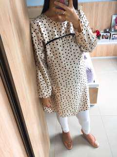Cream Polka Tunik - NEW