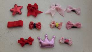 Clips for little hair baby girl (10pcs)
