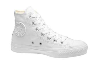 Chuck II White Leather Hightops