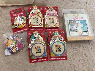 HK Disney Pin Go alice full set pins magic access exclusive cookie duffy limited edition 600 pins