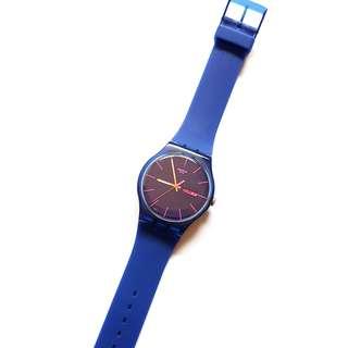 SWATCH RUBBER WATCH (UNISEX) - BLUE