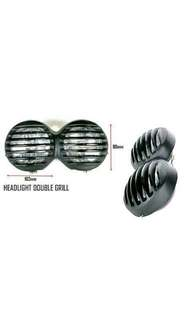 Motorbike/ Caferacer Headlight/ Lamp Double Grill