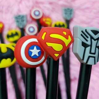 Superhero pens