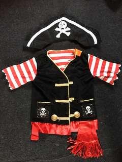 pirates costume 5-7t