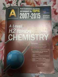[A Level] H2 Topical Chemistry TYS by Topic