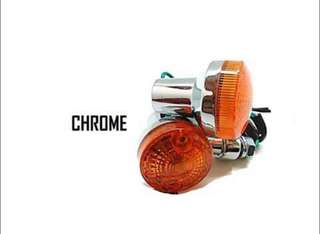 Motorbike/ Caferacer Headlight/ Lamp Chrome