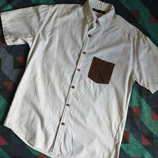 White Short Sleeves Polo (Dotted)