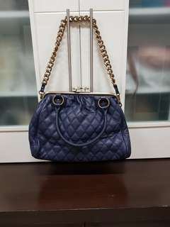 Quilted blue bag