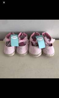 Pink ribbon baby girl prewalker shoes