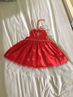 Satin dress (2-4yo)