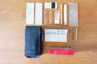 Victorinox SwissChamp with Leather Belt Pouch