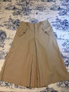 🚚 日本製 Margaret Howell MHL 褲裙 極簡 卡其色 長裙 及膝裙 褲裙 寬褲