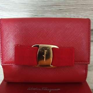 Salvatore Ferragamo Short Wallet Rosso