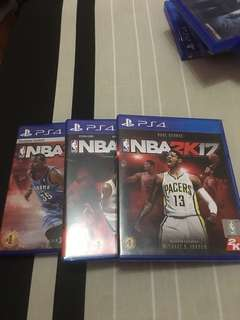 Ps4 NBA Games (2K15, 2K16, 2K17) bundle