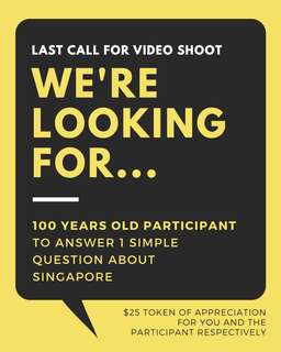 Last Call! Participants Wanted For Video Shoot!