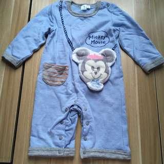 迪士尼米奇老鼠Mickey mouse連身衫夾衣bodysuit