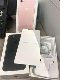 iphone 7 box and all new unused accessories