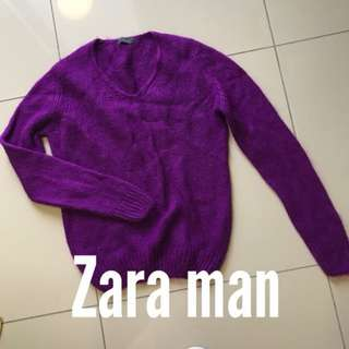 ZARA MAN Knitwear purple burgundy long sleeves winter